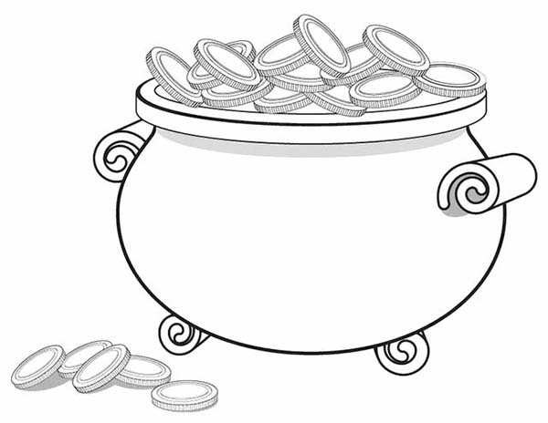 The Gallery For Gt Empty Pot Of Gold Coloring Pot Of Gold Coloring Page