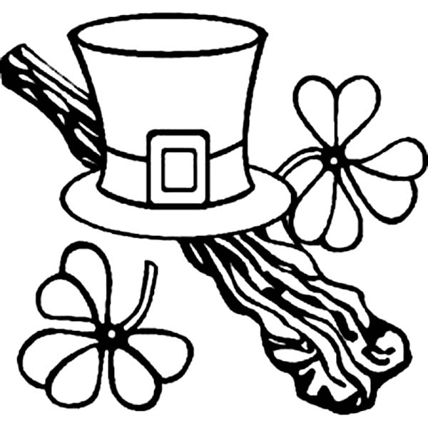 A Leprechauns Hat on St Patricks Day Coloring Page Download