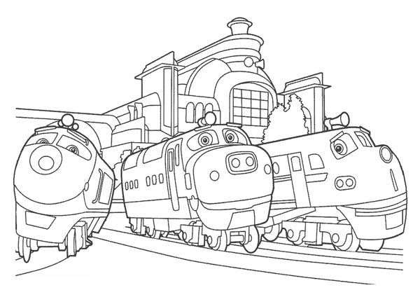 Action Chugger and Brewster and Chatsworth of Chuggington Coloring ...