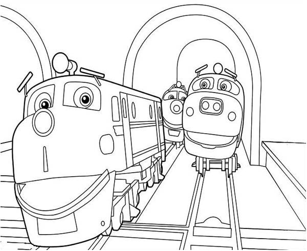 action chugger and friends of chuggington coloring page