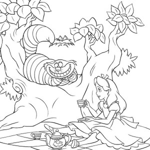 Alice in Wonderland Poster Coloring Page Alice in Wonderland