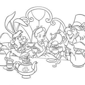 Talking Flowers Alice In Wonderland Coloring Pages Coloring