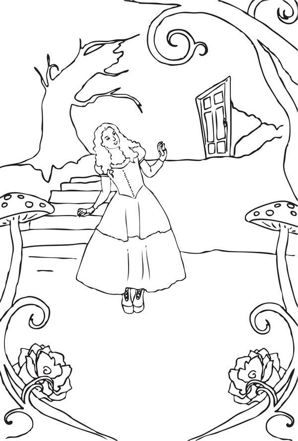 Alice in Wonderland Entering Fantasyland