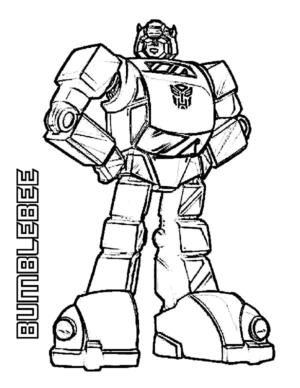 Print Amazing Bumblebee Of Transformers Coloring Page In Full Size