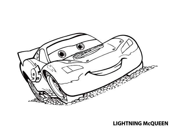 Cars Amazing Lighting Mcqueen In Disney Coloring Page