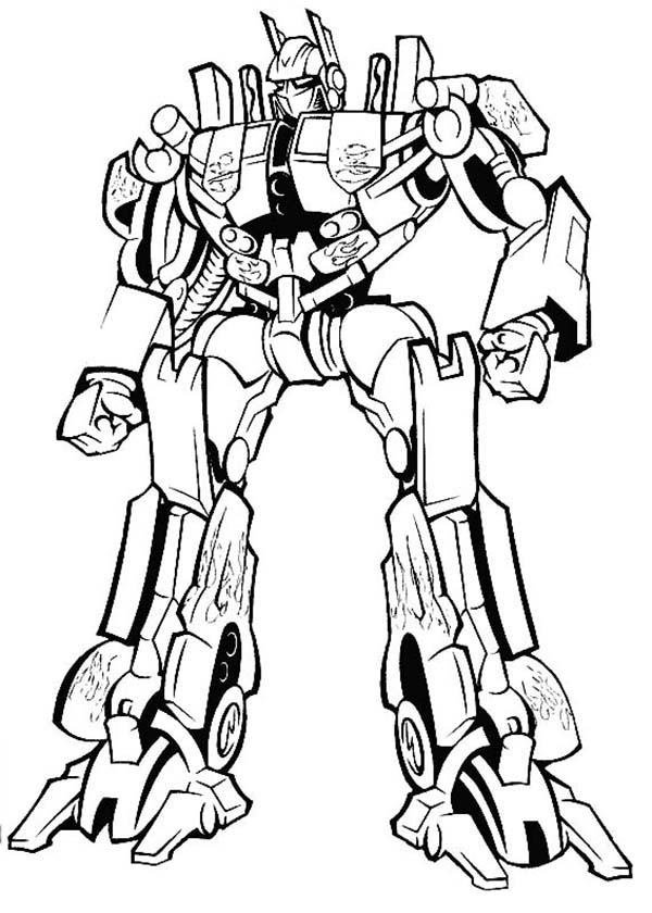 Amazing Optimus Prime in Transformers Coloring Page Amazing