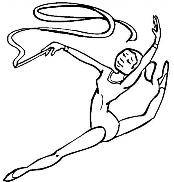 Beautiful Gymnastic Coloring Pages Pictures New Printable