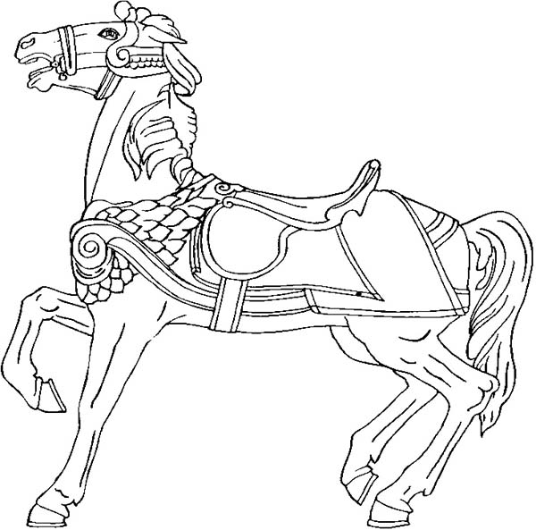 Amazing War Horse In Horses Coloring Page Download
