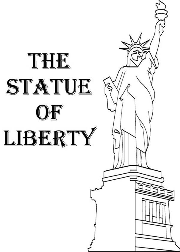 American statue of liberty coloring page