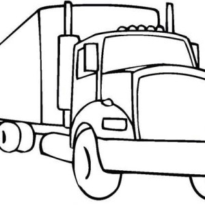 eighteen wheeler coloring pages - photo#24