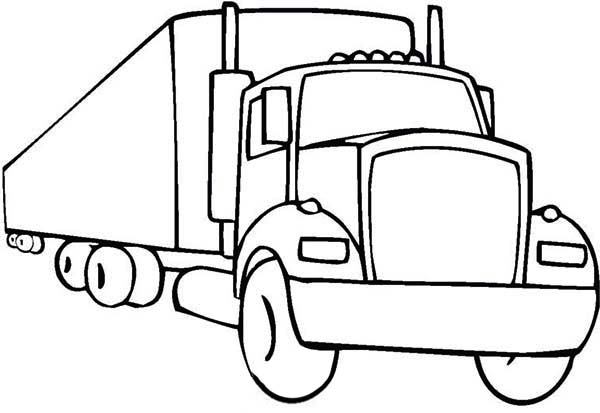 coloring pages of 18 wheelers trucks | An 18 Wheeler Semi Truck Illustration Coloring Page ...