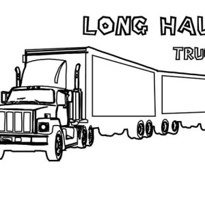 an extra long haul semi truck coloring page