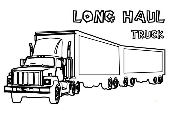 An Extra Long Haul Semi Truck Coloring Page - Download & Print ...
