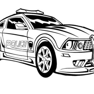 autobot transform to police car in transformers coloring page