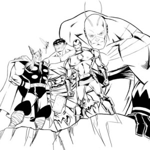 Avengers Assemble in Avengers Coloring Page