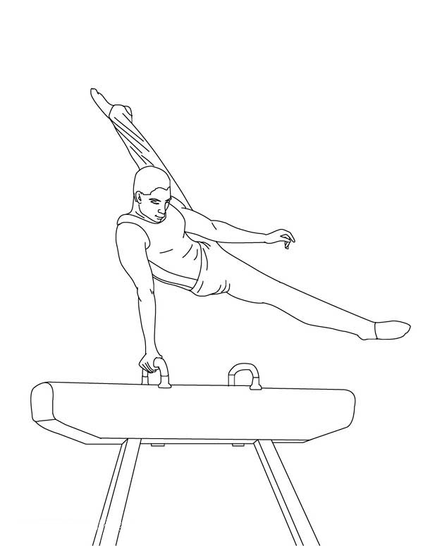 Awesome balance beam gymnastic coloring page download for Gymnastic coloring pages