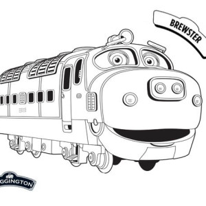Awesome Brewster From Chuggington Coloring Page