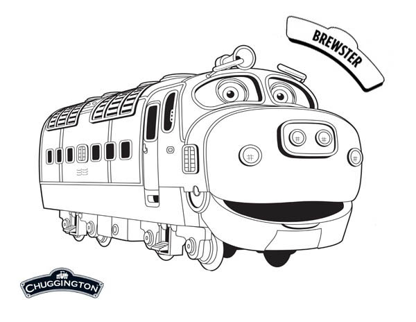 Awesome Brewster from Chuggington Coloring Page Download Print