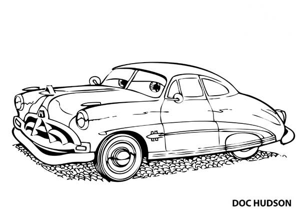 cars awesome doc hudson disney cars coloring page awesome doc hudson disney cars coloring - Disney Cars Coloring Pages