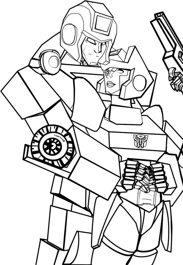 Awesome Ironhide Of Transformers Coloring Page