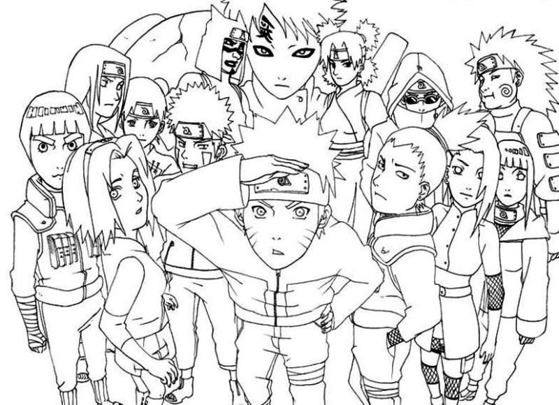 naruto awesome naruto shippuden coloring page awesome naruto shippuden coloring pagefull size image - Naruto Coloring Pages