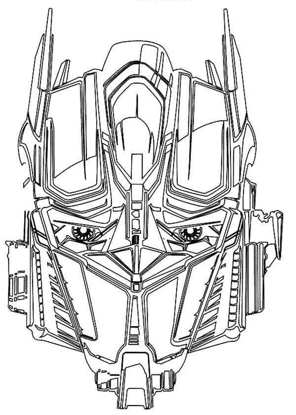 awesome optime prime head picture from transformers coloring page - Transformers Coloring Pages