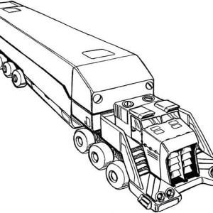 Awesome Picture of Semi Truck Coloring Page