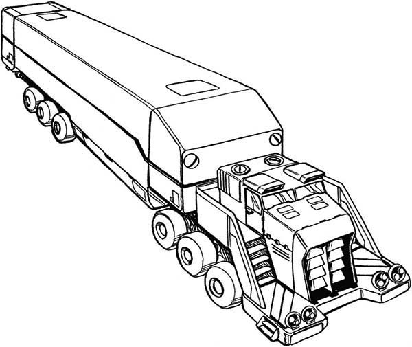 Awesome Picture of Semi Truck Coloring Page Download Print