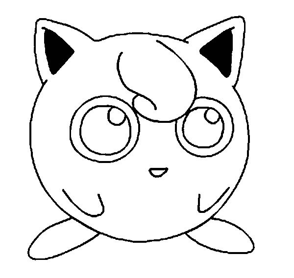 jigglypuff coloring page awesome pokemon jigglypuff picture coloring page