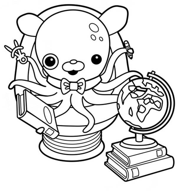 awesome professor inkling octopus from the octonauts coloring page