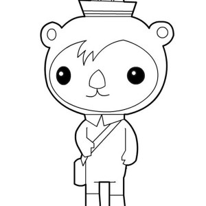 Awesome Shellington Sea Otter from The Octonauts Coloring Page
