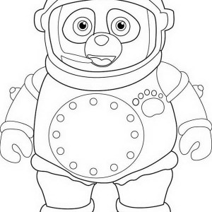 Awesome Special Agent Oso Coloring Page