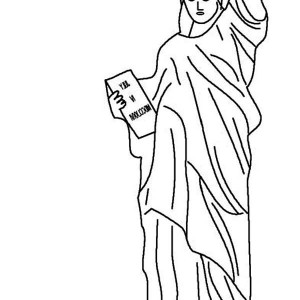 Awesome Statue of Liberty Coloring Page