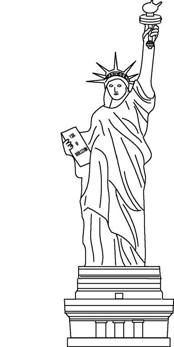 Awesome Statue of Liberty Coloring Page Download Print Online