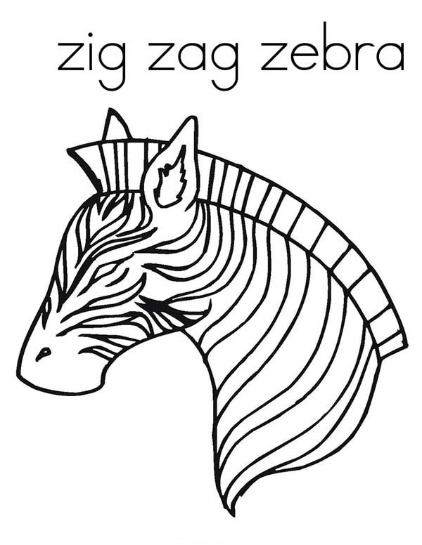 Awesome zig zag zebra coloring page download print online awesome zig zag zebra coloring page pronofoot35fo Gallery