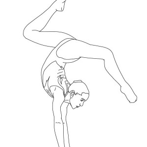 Gymnastics Coloring Pages Coloring Book of Coloring Page