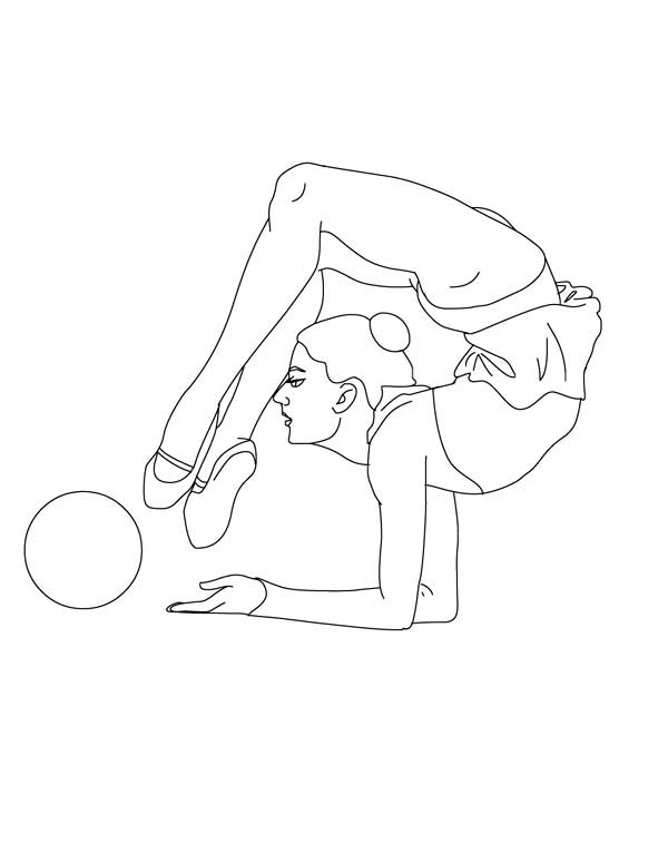 Ball Individual All Around Rhythmic Gymnastic Coloring Page ...