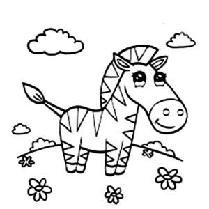 Cute Zebra Coloring Page Cute Zebra Coloring Page Color Nimbus