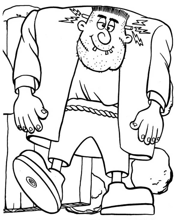 Big frankenstein coloring page download print online for Frankenstein coloring pages to print