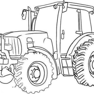 Big Wheel Tractor Coloring Page