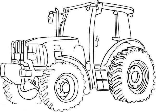 Big wheel tractor coloring page download print online for Tractor coloring pages to print