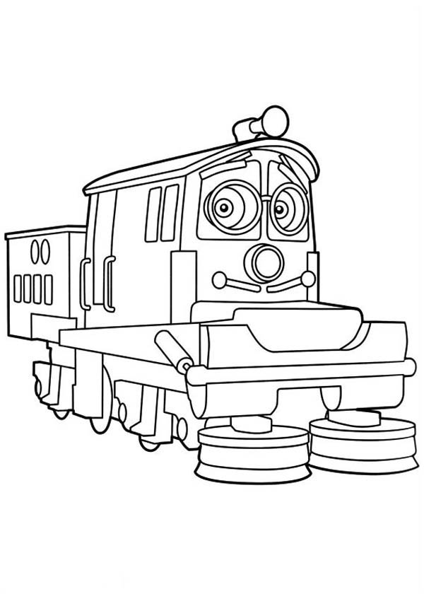 Calley from chuggington coloring page download print for Chuggington coloring pages