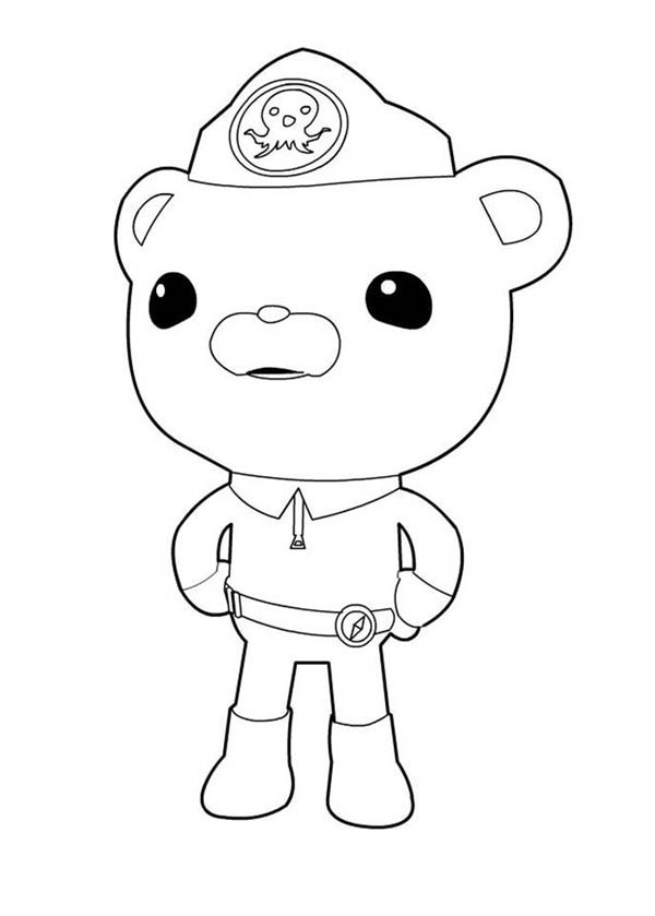 Captain Barnacles Standing in The Octonauts Coloring Page