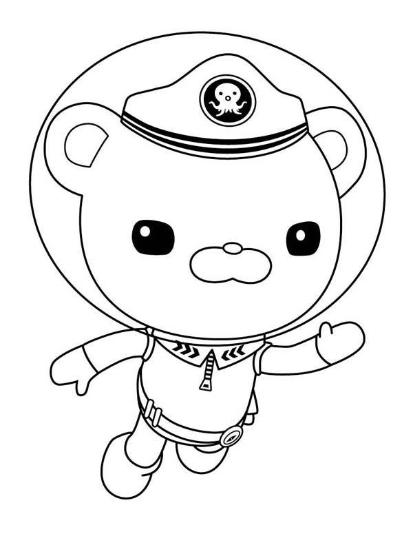 Captain Barnacles Swim in The Octonauts Coloring Page Download