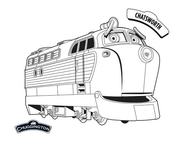 Chatsworth from Chuggington Coloring Page Download Print