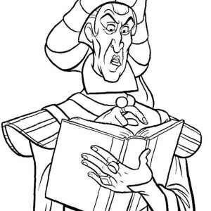 Claude Frollo from The Hunchback of Notre Dame Coloring Page