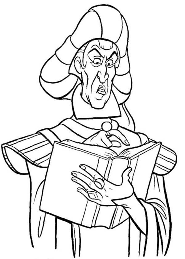 Hunchback Of Notre Dame Claude Frollo From The Coloring Page