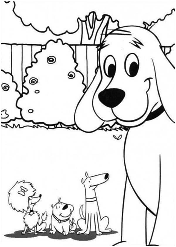 clifford the big red dog and friends coloring page - Clifford Puppy Days Coloring Pages