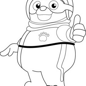 Cool Special Agent Oso Coloring Page