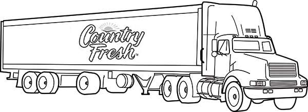 Country Fresh Semi Truck Coloring Page Download Print Online